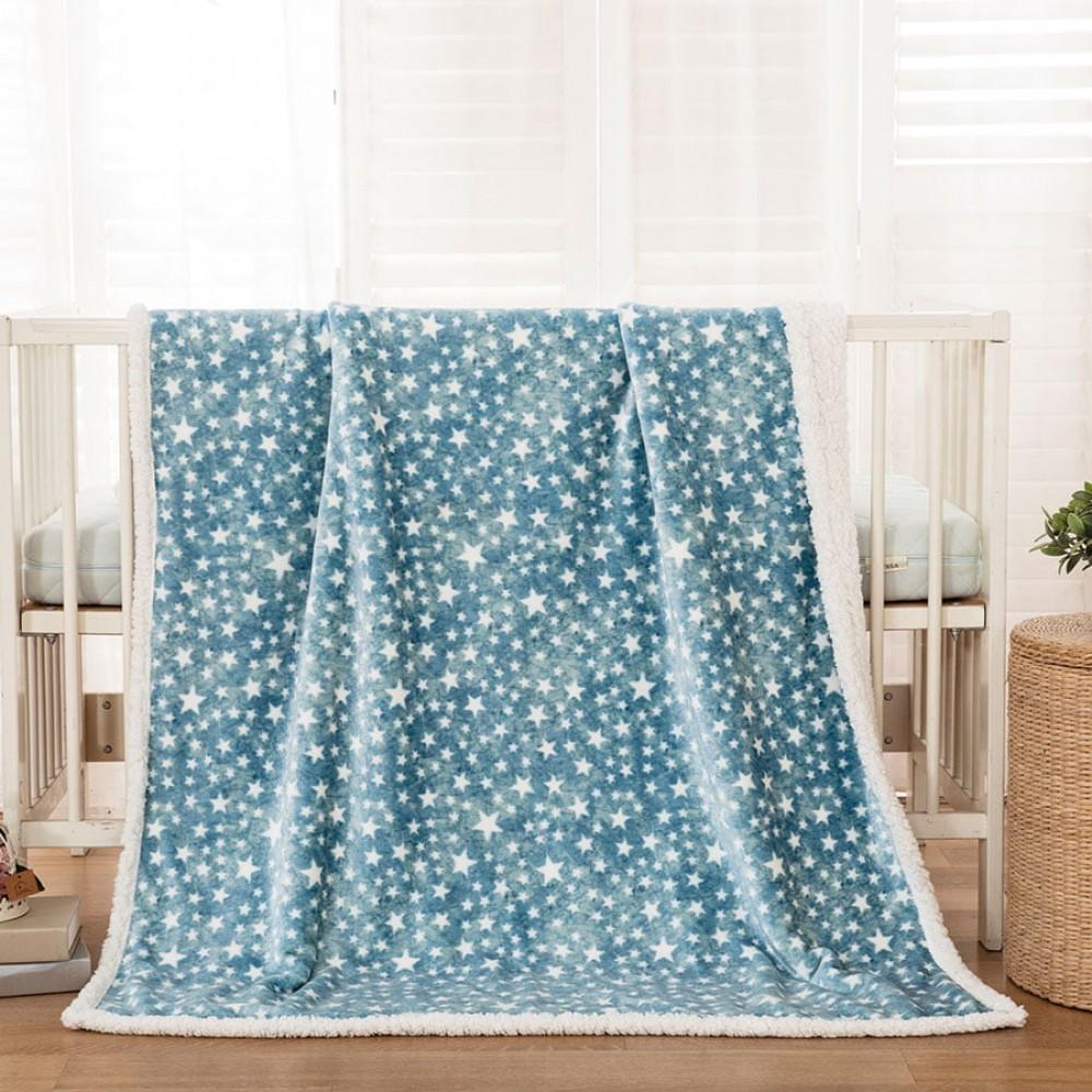 Κουβέρτα βρεφική 110x140 σε 3 χρώματα Art 5136  110x140  Γαλάζιο Beauty Home